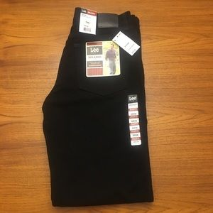 NWT Lee Relaxed Straight Jeans Double Black 32x34